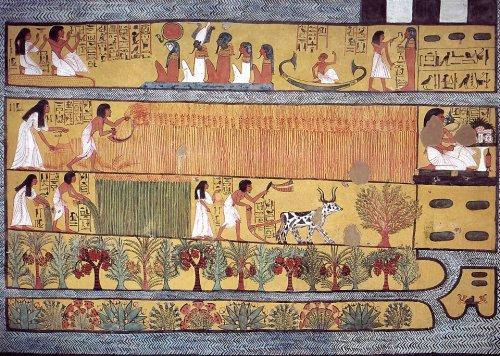 سنند-جم (Sennedjem) ..... الخادم فى مكان الماعت (الحق)-من مقبرة سنند – جم (Sennedjem) أحدى مقابر العمال بدير المدينة بالبر الغربى